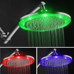 hotelspa color-changing led rainfall shower head