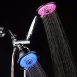 luminex 7 color led shower head