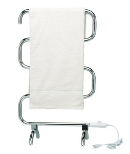 warmrails floor standing heated towel rack