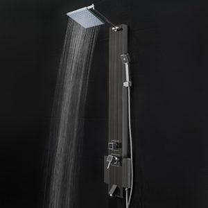 firebird black stainless shower panel