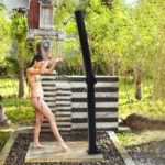 yescom foldable solar heated outdoor shower
