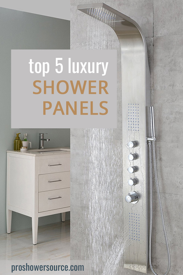 Top 5 Best Shower Panels Reviews   Pro Shower Source